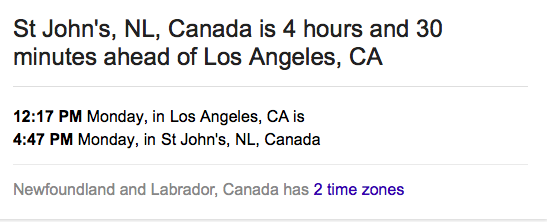 Time zone?